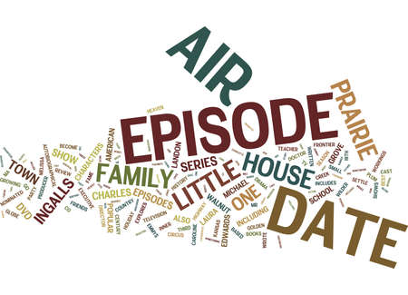 LITTLE HOUSE ON THE PRAIRIE DVD REVIEW Text Background Word Cloud Concept