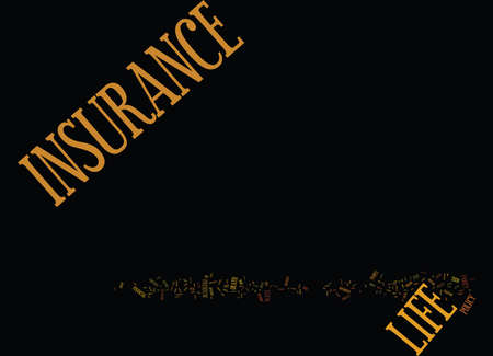 LIFE INSURANCE SERVICES Text Background Word Cloud Concept