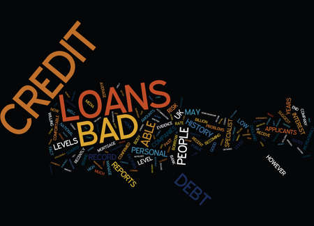 acquired: LOANS FOR BAD CREDIT Text Background Word Cloud Concept