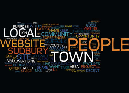 LOCAL COMMUNITY WEBSITES Text Background Word Cloud Concept