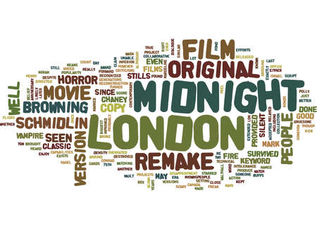 LONDON AFTER MIDNIGHT Text Background Word Cloud Concept Ilustração