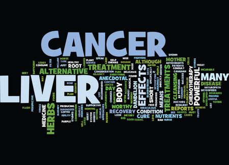 LIVER CANCER Text Background Word Cloud Concept