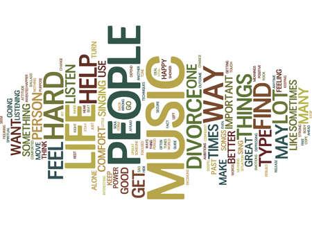 音楽テキスト背景単語雲概念に耳を傾ける