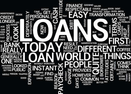 LOANS UNTIL THE NEXT PAYCHECK Text Background Word Cloud Concept