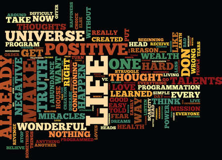 LIFE IS WONDERFUL Text Background Word Cloud Concept