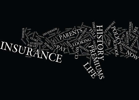 LIFE INSURANCE PREMIUMS Text Background Word Cloud Concept Ilustrace