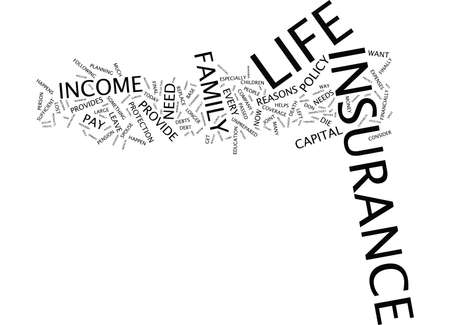 LIFE INSURANCE WHY DO I NEED IT Text Background Word Cloud Concept