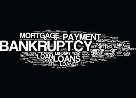 破産テキスト背景単語クラウドの概念は後のローン  イラスト・ベクター素材