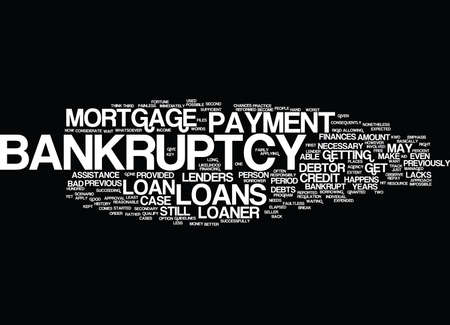 fairly: LOANS AFTER BANKRUPTCY Text Background Word Cloud Concept