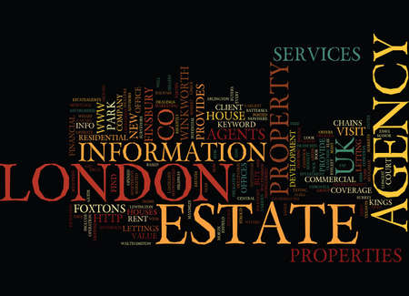 LONDON ESTATE AGENCY Text Background Word Cloud Concept