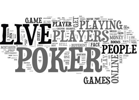 LIVEPOKER Text Background Word Cloud Concept