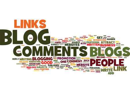 LINKS FROM BLOG COMMENTS Text Background Word Cloud Concept Çizim