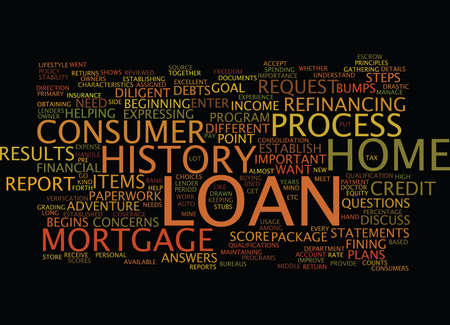 LOAN PROCESS STEPS Text Background Word Cloud Concept