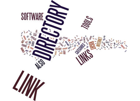 LINK DIRECTORY TOOLS Text Background Word Cloud Concept