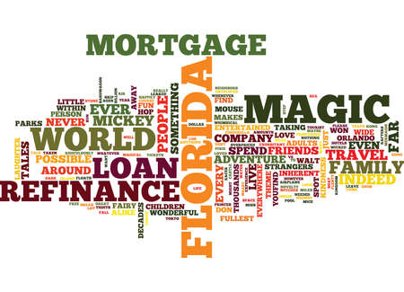 LIVE HAPPILY EVER AFTER WITH MORTGAGE LOAN REFINANCE FLORIDA Text Background Word Cloud Concept