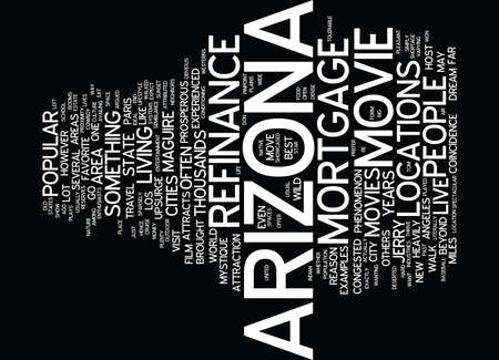 LIVE LIKE A STAR WITH REFINANCE MORTGAGE ARIZONA Text Background Word Cloud Concept Ilustração