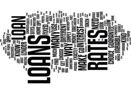LOANS GUIDE Text Background Word Cloud Concept Illusztráció