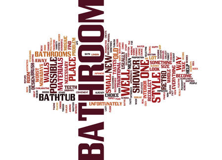 LONDON BATHROOM FITTERS REPAIRS IN A BATHROOM Text Background Word Cloud Concept