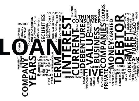 LOAN WHAT DOES IT MEAN Text Background Word Cloud Concept Ilustrace