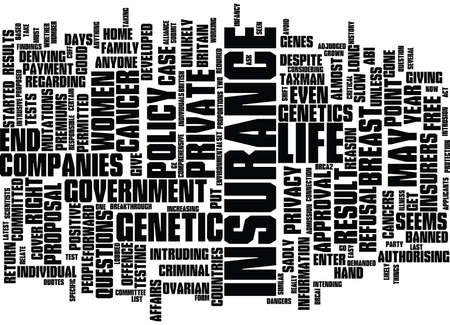 LIFE INSURANCE WHAT PRICE PRIVACY Text Background Word Cloud Concept Illustration