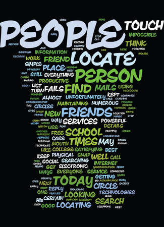 LOCATE PEOPLE WITH EASE Text Background Word Cloud Concept