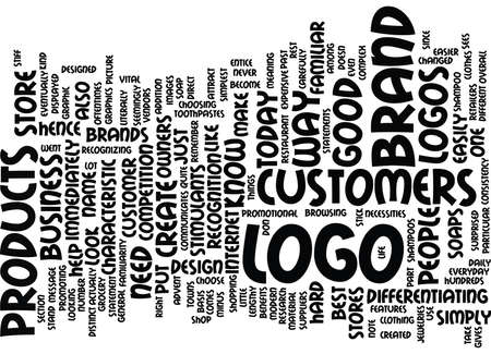 LOGO DESIGN Text Background Word Cloud Concept Illustration