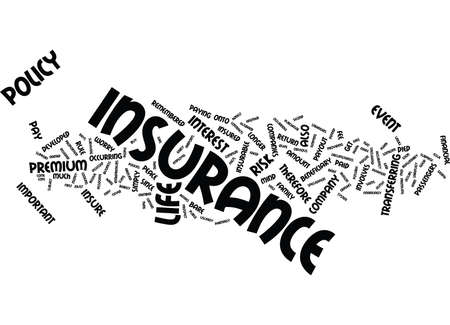 LIFE INSURANCE THE FACTS Text Background Word Cloud Concept
