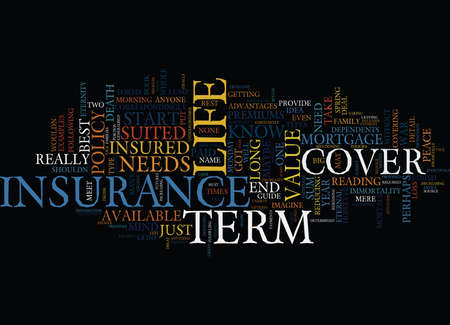 LIFE INSURANCE WHEN YOU ARE GONE Text Background Word Cloud Concept Ilustrace