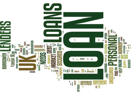 LOANS UK LOANS TO SUIT EVERY POCKET Text Background Word Cloud Concept