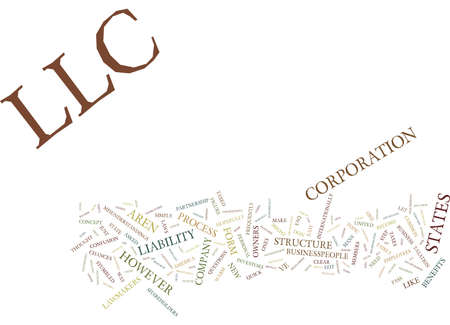 LLC FAQ Text Background Word Cloud Concept Illustration