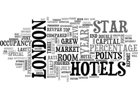 LONDON HOTEL MARKET BOOMS Text Background word cloud concept 向量圖像