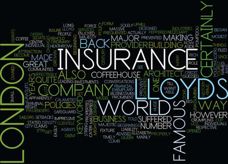 LLOYDS OF LONDON Text Background Word Cloud Concept Illustration