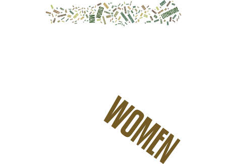 LITERATURE AND WOMEN Text Background Word Cloud Concept Ilustrace