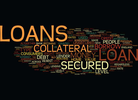 LOANS Text Background Word Cloud Concept