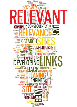 LINK RELEVANCE Text Background Word Cloud Concept Illustration