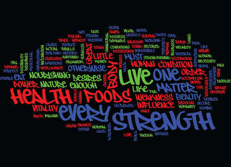 LIVE FOR GOOD HEALTH Text Background Word Cloud Concept Çizim