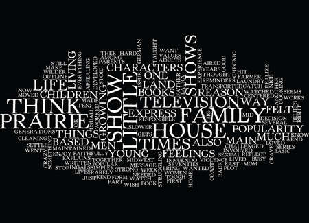 tough: LITTLE HOUSE ON THE PRAIRIE Text Background Word Cloud Concept