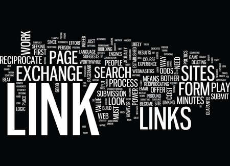 odds: LINK EXCHANGE A POWER PLAY Text Background Word Cloud Concept