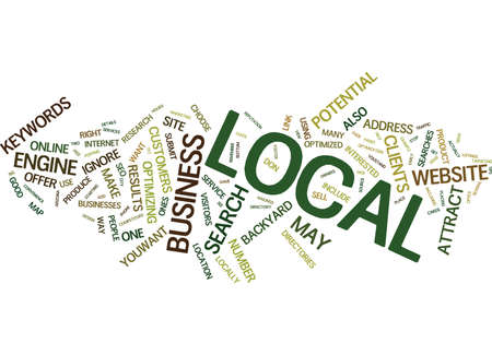 LOCAL SEO TIPS DON T IGNORE THE GEMS IN YOUR OWN BACKYARD Text Background Word Cloud Concept