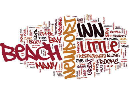 LITTLE INN NEWPORT BEACH Text Background Word Cloud Concept