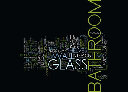 LONDON BUILDERS BATHROOM APARTMENT GLASS IDEAS PART TWO Text Background Word Cloud Concept