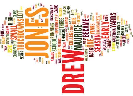 モーリス ・ ジョーンズ ドリュー ドラフトの日おすすめテキスト背景単語雲概念