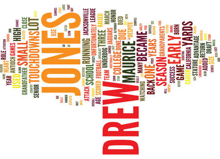MAURICE JONES DREW DRAFT DAY PICKS Text Background Word Cloud Concept Illustration