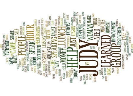 named person: LOSE STAGEFRIGHT OVER YOUR LUNCH HOUR Text Background Word Cloud Concept