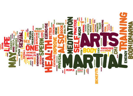 MARTIAL ARTS AND SEXUAL HEALTH Text Background Word Cloud Concept