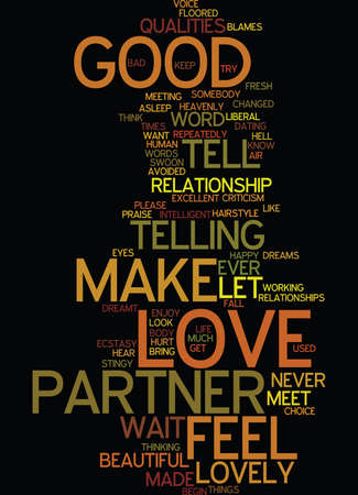 LOVE DO YOU LET YOUR PARTNER KNOW WHY YOU LOVE THEM Text Background Word Cloud Concept