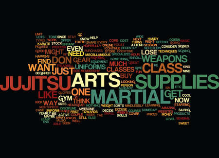 MARTIAL ARTS SUPPLIES Text Background Word Cloud Concept