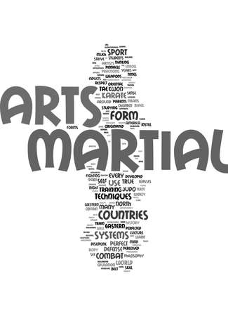 MARTIAL ARTS Text Background Word Cloud Concept Illusztráció