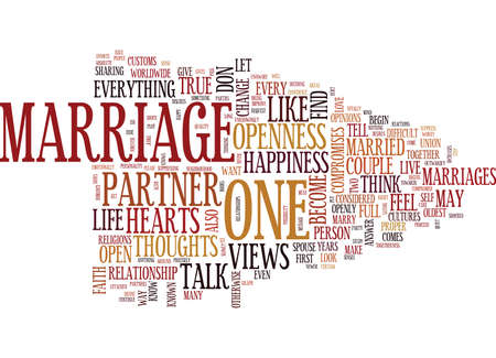 MARRIAGE OF HEARTS Text Background Word Cloud Concept Illusztráció
