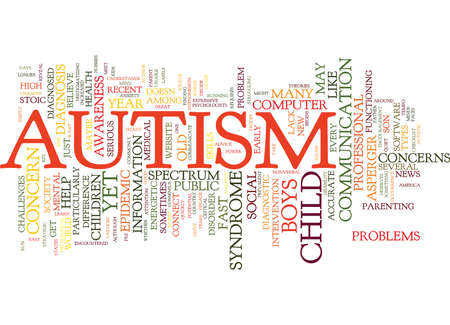 MAYBE IT S NOT AUTISM Text Background Word Cloud Concept